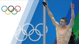 The USA's Ryan Murphy wins gold in Men's 200m Backstroke in Rio 201...