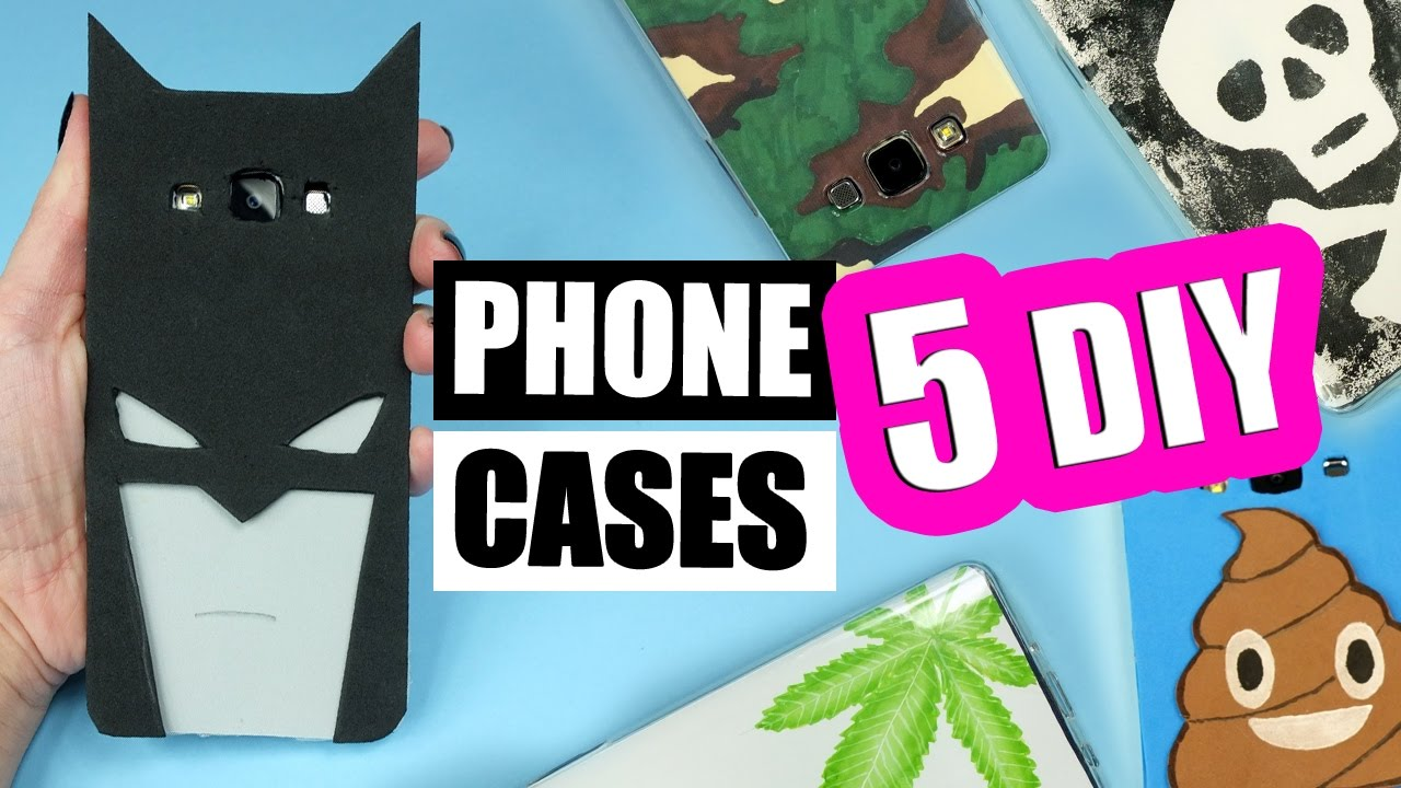 watch 536ca 38701 5 DIY PHONE CASES for BOYS! Easy phone cases tutorial