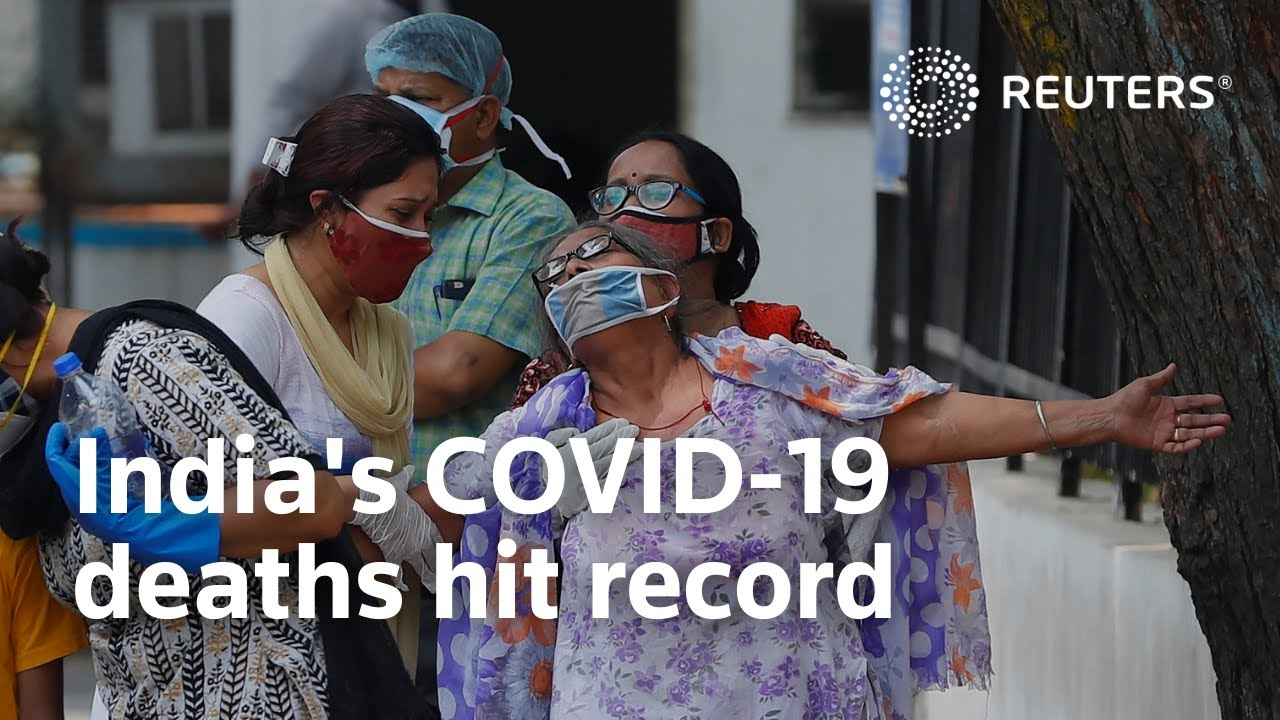Download India's COVID-19 deaths hit record