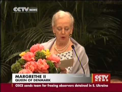 Margrethe II visits Nanjing Massacre Memorial Hall