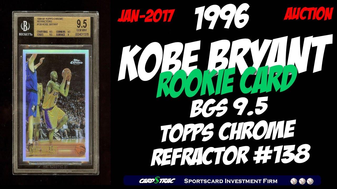 1996 Kobe Bryant Rookie Card For Sale Topps Chrome Graded Bgs 9 5