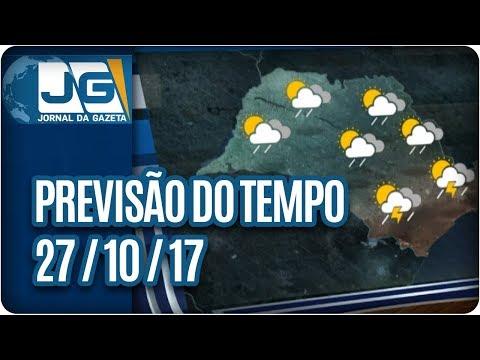 Previsão do Tempo - 27/10/2017