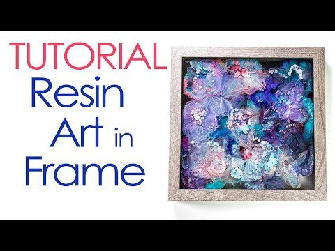 Resin Art: Petri Alcohol Ink in Frame Tutorial DIY