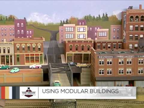 Tips Using Model Railroad Building Flats to Make a City