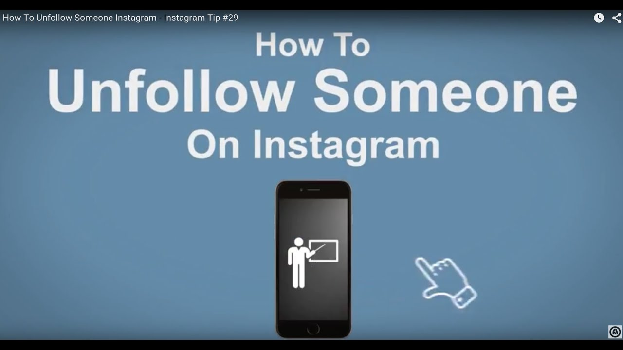 How To Unfollow Someone on Instagram - Instagram Tip #29