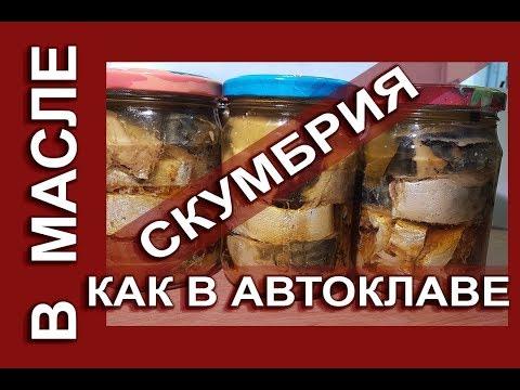 Mackerel in oil, as in an autoclave, shelf