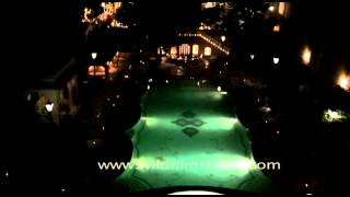 Custom swimming pool and spa of Samode Palce light up the evening, Jaipur