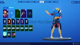 Fortnite *NEW* *LEAKED* Slumber skin with Pillow editstyle showcased with emotes