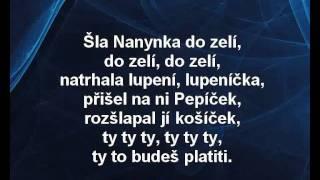 Karaoke klip Šla Nanynka do zelí - Dětské písničky
