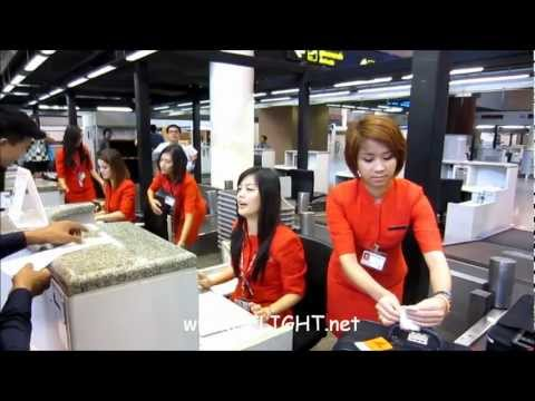 Don Mueang Airport System Test Run by AOT and AirAsia ทดสอบดอนเมือง