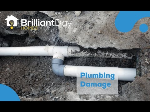 Houston Sewer Line Damage Caused By Foundation