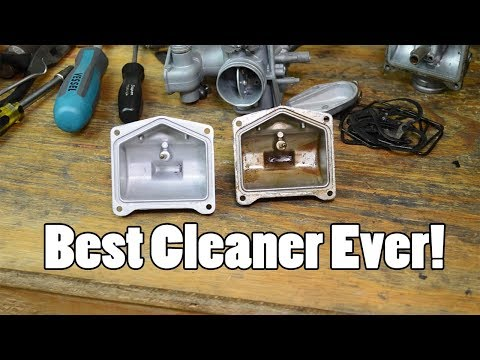 The BEST method for cleaning carburetors - soda blast and ul