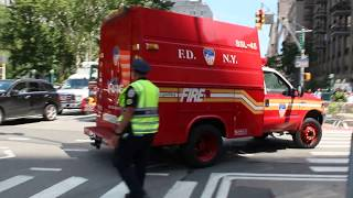 FDNY Engine 332, Ladder 23 And SSL 45 Arriving On Scene Of An Ongoning Steam Explosion Operation.