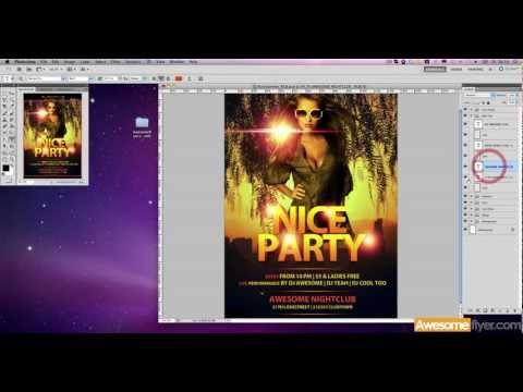 Illustrator tutorial - Flyer design template