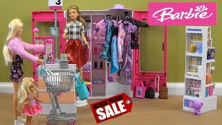 Barbie Black Friday Shopping Story with NEW Barbie Store and the Ultimate Barbie Fashion Closet