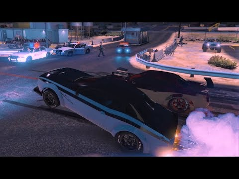 CAR MEET & DRAG RACING IN MY HELLFIRE!!! GTAV ONLINE!