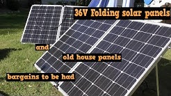 36v folding solar panels and Old House panels - solar on the cheap