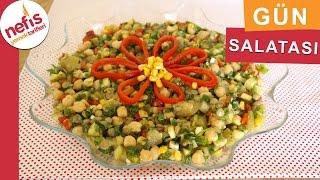 Nohutlu Mercimekli Gün Salatası - Salata Tarifleri - Nefis Yemek Tarifleri