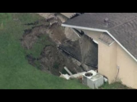 Sinkhole swallows part of central Florida home