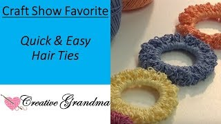 How To Crochet (Fast & Easy) Crochet Hair Ties / Craft Show Favorite