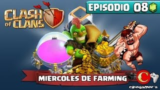 "Clash of Clans #MiercolesdeFarming Episodio 8 ""Rumbo a TH9"""