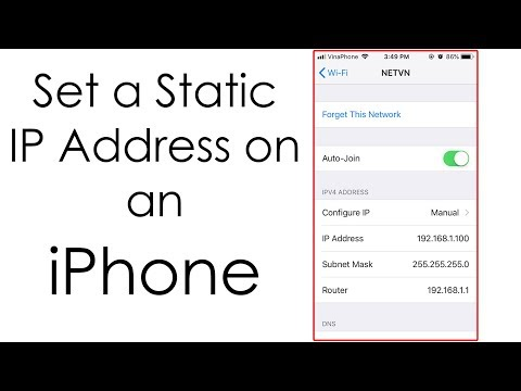 IPhone : Setting A Static IP Address For Wireless Network