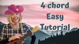 I'm So Lonesome I Could Cry   Easy 4 Chord Country Ukulele Tutorial