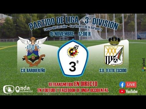 Derbi  3ª DIVISIÓN Grupo B - CD Barquereño vs SD Textil Santanderina.