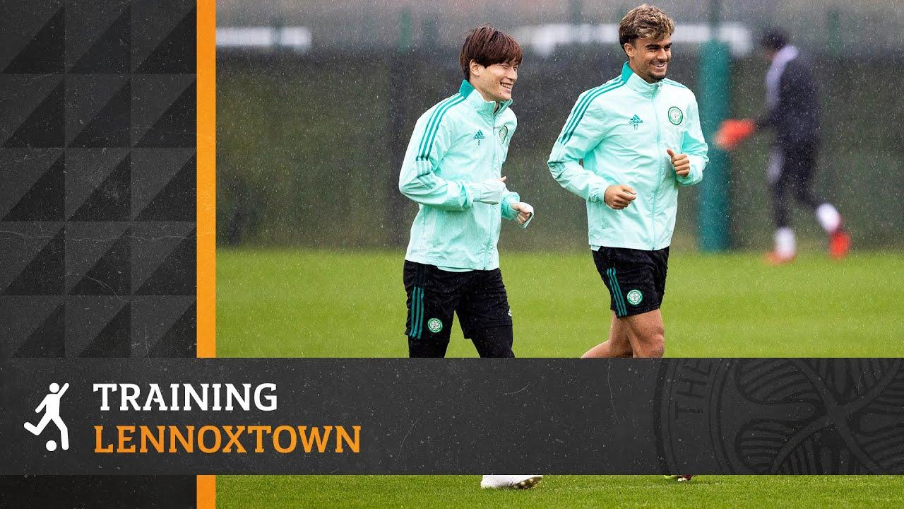 A rain-soaked UEFA Europa League training session for the Celts