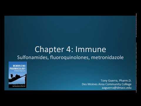(CC) Sulfa Drugs, Fluoroquinolones Metronidazole, (CH 4 IMMUNE NAPLEX / NCLEX PHARMACOLOGY REVIEW)