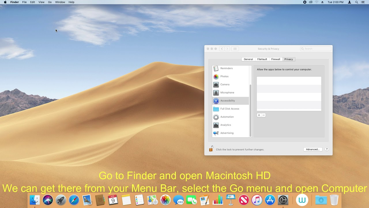 Wacom Pen and Touch Permissions for MacOS Mojave