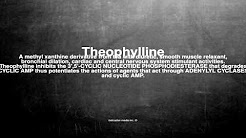 Medical vocabulary: What does Theophylline mean