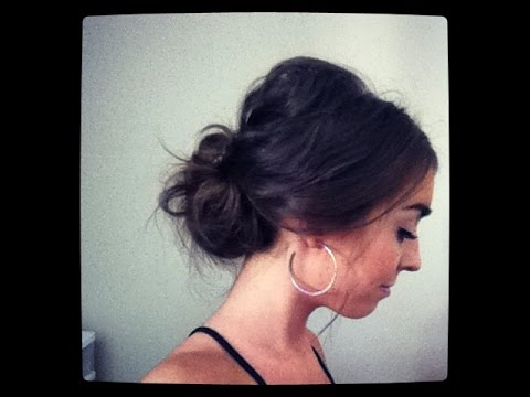 Easy Messy Lower Bun Hairstyle YouTube