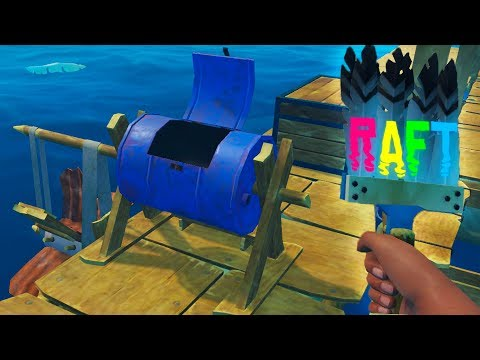 RAFT - Paint & Raft Upgrades & Crazy Radio Locations - RAFT Gameplay Highlights