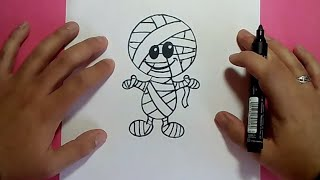 Como dibujar una momia paso a paso 2 | How to draw a mummy 2
