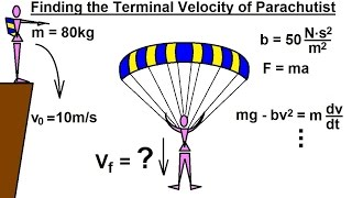 Differential Equation - 1st Order Solutions (8 of 8) How to Calculate Parachutist