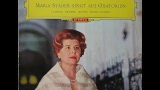 Maria Stader Singt aus Oratorien BACH