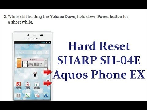 Sharp aquos phone ex sh 04e sh04e firmware - updated