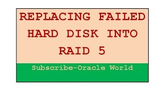Replacing Failed Hard Disk into RAID Devices