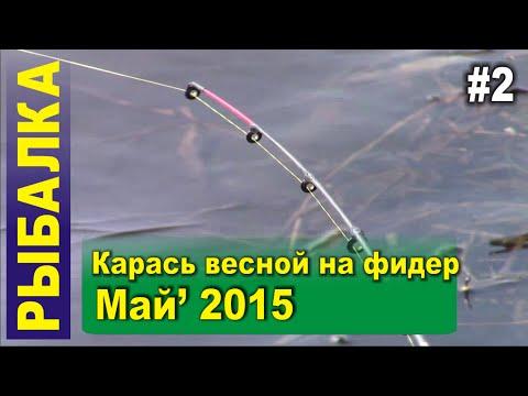 рыбалка на карася фидером 2015 видео