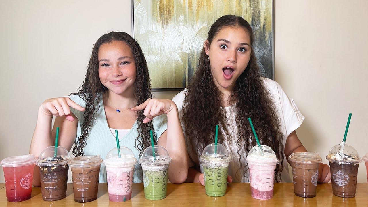 Starbucks SECRET MENU Challenge! (Haschak Sisters)