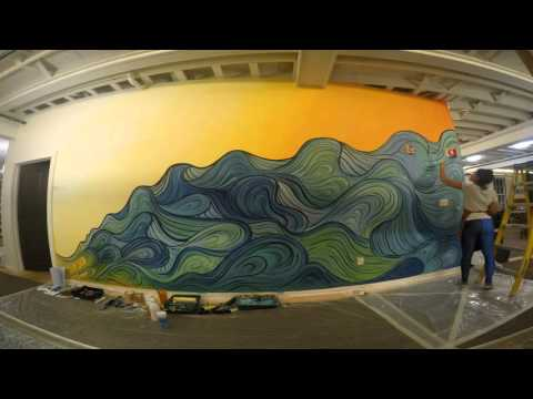 Hampshire Country School: Interior mural time lapse - GoPro Hero 4 Silver