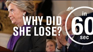 Why did Hillary Clinton lose the election? | IN 60 SECONDS