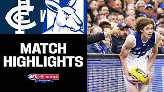 Ben Brown finds form   Carlton v North Melbourne Highlights   Round 7, 2019   AFL