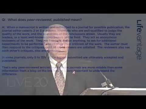 What is Peer Reviewed Research Protandim Cancer ChemoRadiotherapy   Dr Joe McCord Oct 2010