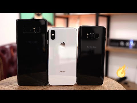 Apple iPhone X vs Samsung Galaxy S8 Feat. Galaxy Note 8