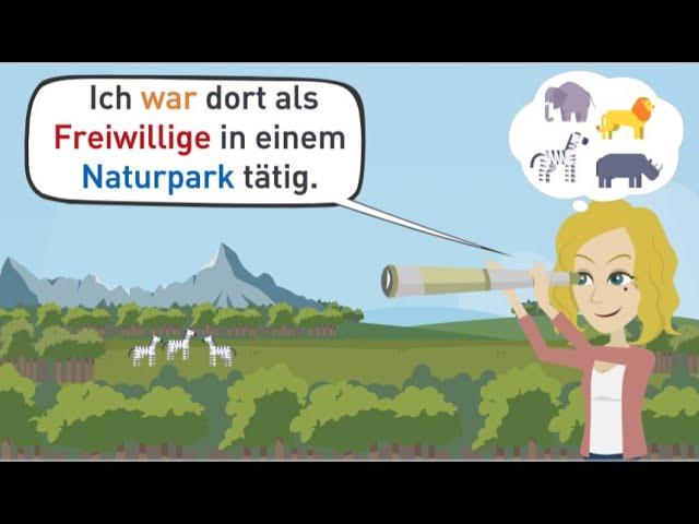 Deutsch lernen | Ich erzähle dir von meiner Arbeit in einem Tierpark. | Grammatik & Wortschatz