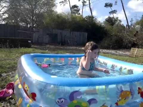 new pool in the backyard Intex Sun Shade Pool & new pool in the backyard Intex Sun Shade Pool - YouTube