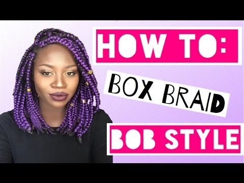 how to make box braeds
