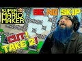 CUT!  TAKE 2! - Super Mario Maker - Super Expert No Skip with Oshikorosu